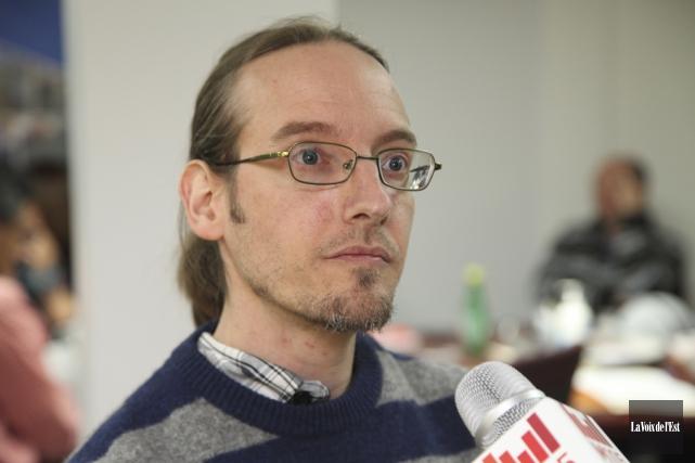 Le coordonnateur du GASP, Nicolas Luppens.... (Alain Dion, La Voix de l'Est)