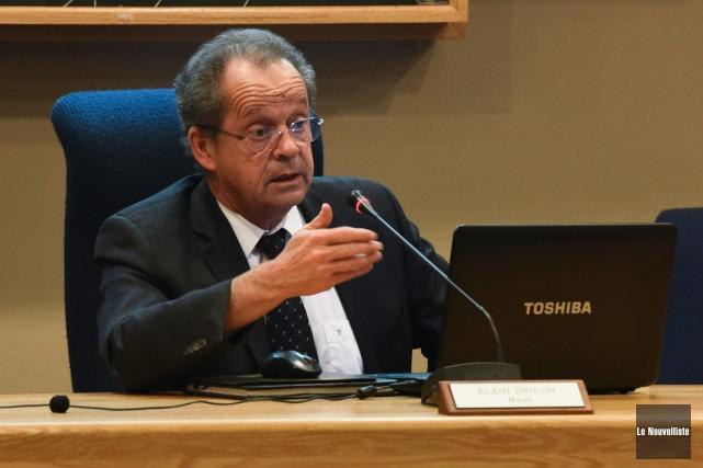 Le maire de Nicolet Alain Drouin.... (François Gervais, Le Nouvelliste)