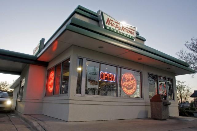 Une succursale Krispy Kreme à Matthews, en Caroline... (AP, Chuck Burton)