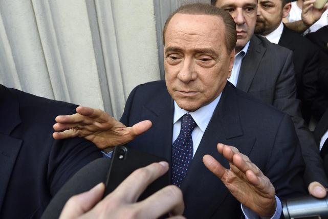 Le président de l'AC Milan, Silvio Berlusconi.... (Photo Flavio Lo Scalzo, Archives AP)