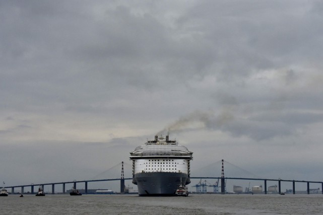 Le Harmony of the seas lors de son... (PHOTO LOIC VENANCE, AFP)