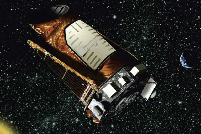 Une représentation du télescope Kepler... (Photo archives Associated Press)