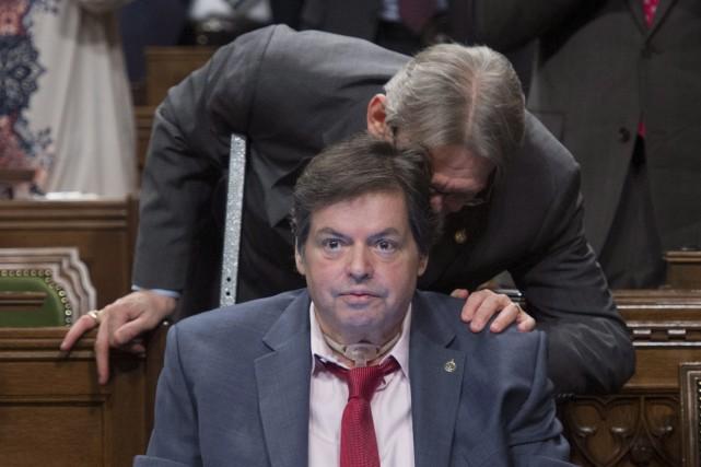 Le député d'Ottawa-Vanier, Mauril Bélanger, était de retour... (La Presse Canadienne)