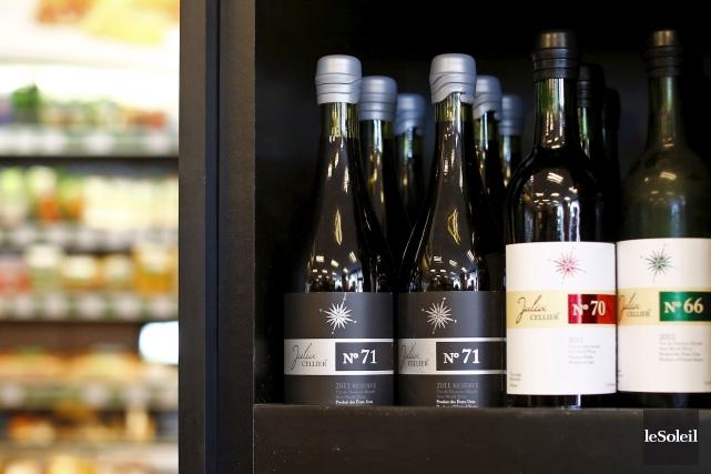 Les vins Julia Wine sont offerts dans les... (Photothèque Le Soleil, Yan Doublet)