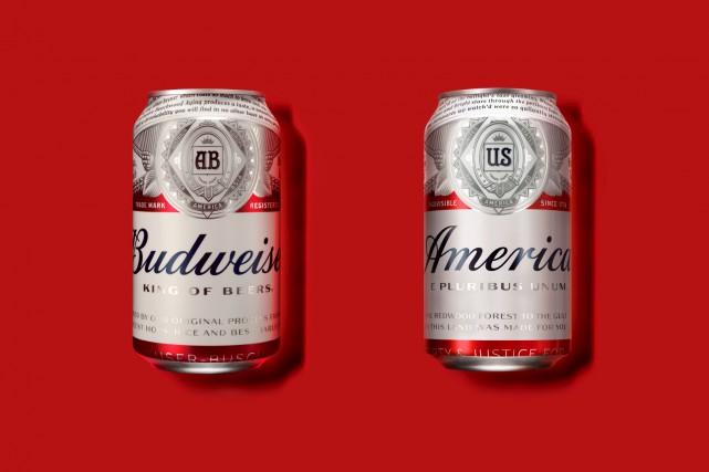 Budweiser, qui appartient à la firme belge AB Inbev, renommera sa bière America... (fournie par AB Inbev North America)