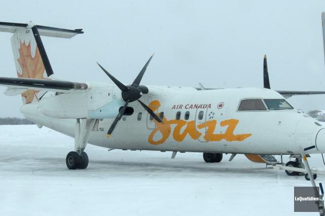 Les changements d'horaire des liaisons entre Bagotville et l'aéroport... (Archives Le Quotidien)