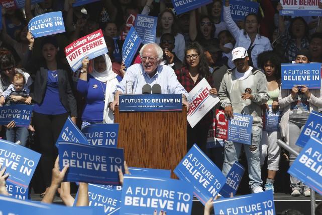 Bernie Sanders était dans un rassemblement en Californie,... (AP, Rich Pedroncelli)