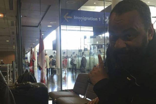 L'humoriste a été refoulé aux douanes, à Montréal,... (Tirée de Facebook)