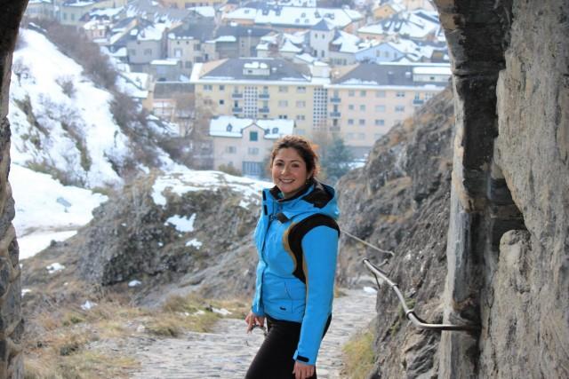 Marie-Claude Guertin, CPA, au château de Sion, en... (photo fournie par marie-claude guertin)