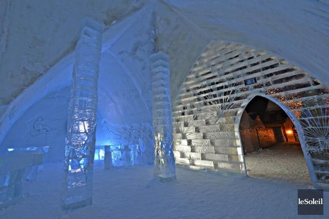 L'Hotel de glace déménagera sur les terrains du... (Photothèque Le Soleil, Pascal Ratthé)
