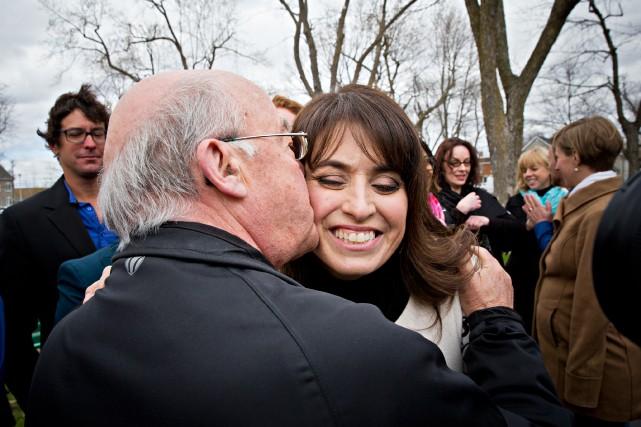 Véronique Hivon est devenue la première candidate à... (PHOTO PATRICK SANFAÇON, LA PRESSE)