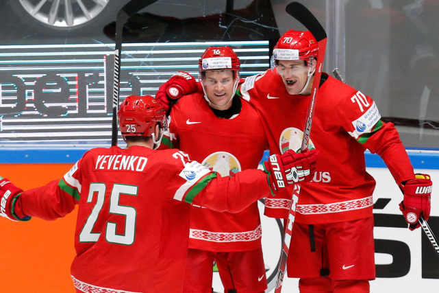 La Biélorussie a savouré sa première victoire au Championnat du monde de... (Photo Maxim Zmeyev, Reuters)