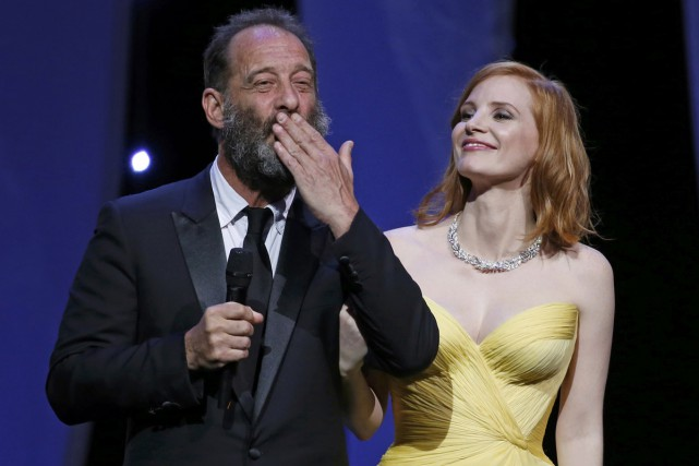 Vincent Lindon et Jessica Chastain ont ouvert mercredi... (PHOTO REUTERS)