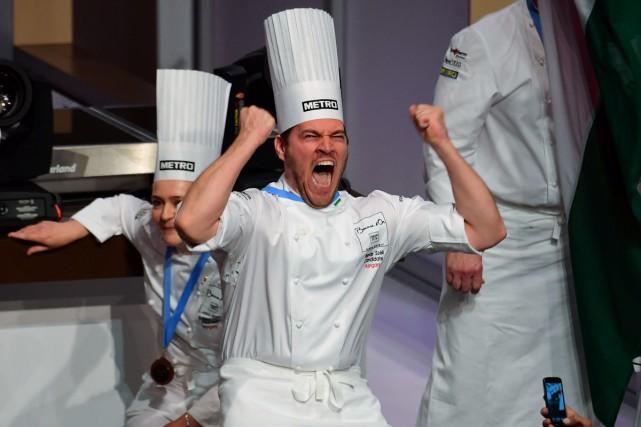 Tamas Szell a remporté le Bocuse d'or Europe.... (PHOTO AFP)