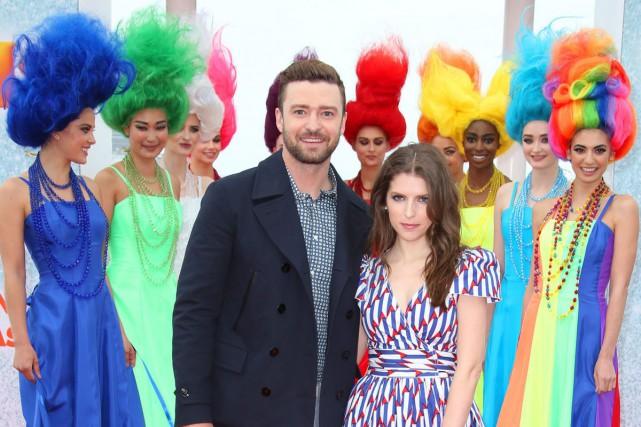 Justin Timberlake et Anna Kendrick prêtent leurs voix... (AP, Joel Ryan)