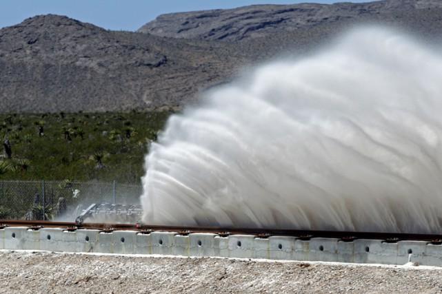 Le système testé par Hyperloop One est censé... (PHOTO AFP)