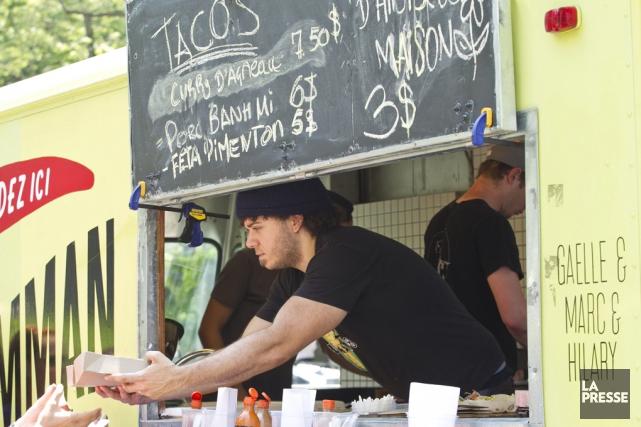 La cuisine de rue sera finalement au menu... (Hugo-Sébastien Aubert, Archives La Presse)
