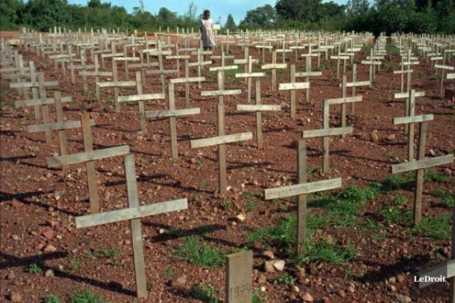 Le génocide au Rwanda, déclenché en avril 1994... (Archives, LeDroit)