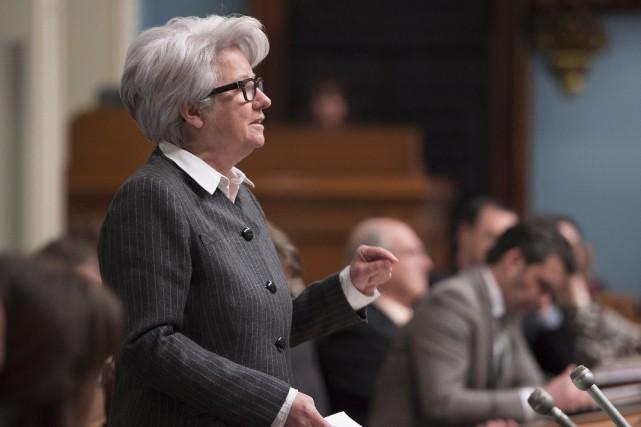 Après Québec solidaire la veille, la péquiste Agnès... (Archives La Presse Canadienne)
