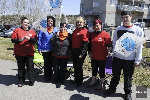 Les employés de la Villa Saguenay ont fait... (Photo Le Quotidien, Mariane L. St-Gelais)