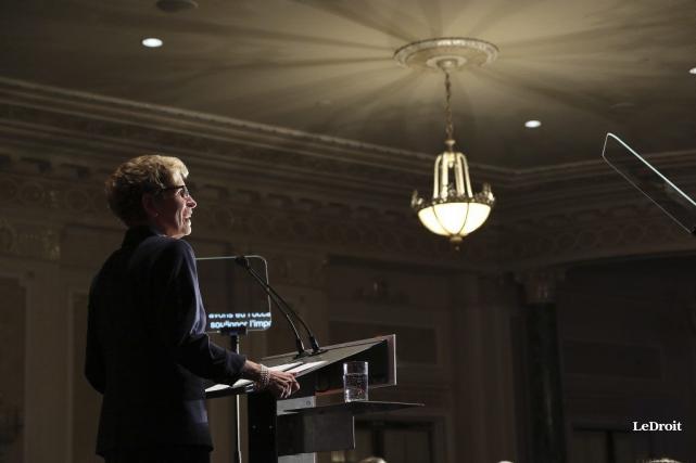 La première ministreWynne a souligné que l'Université d'Ottawa... (Etienne Ranger, Archives LeDroit)