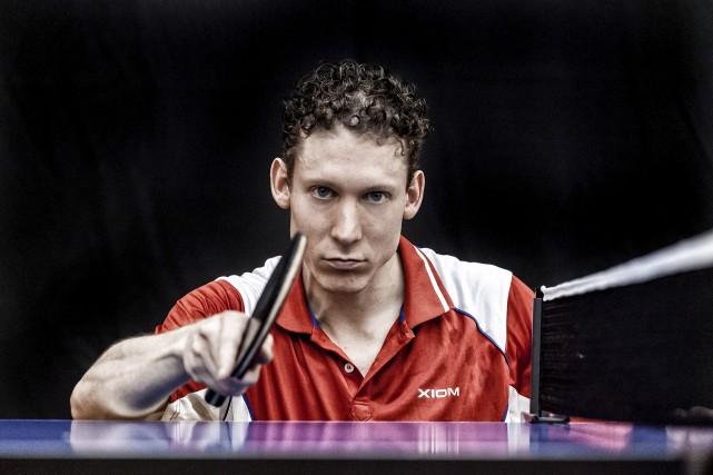 Le pongiste gatinois Xavier Therien a été champion... (Courtoisie)