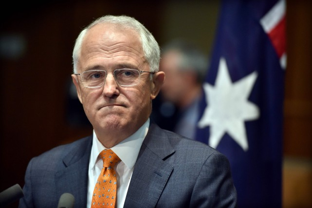 Le premier ministre australien Malcolm Turnbull... (PHOTO MARK GRAHAM, AFP)