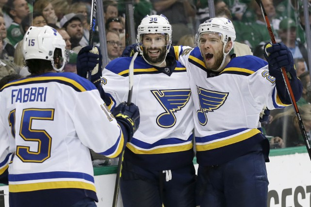 Les Blues ont fait les choses en grand... (Associated Press)