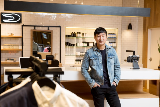 Ethan Song, cofondateur de Frank&Oak, dans la nouvelle... (PHOTO FOURNIE PAR FRANK&OAK)