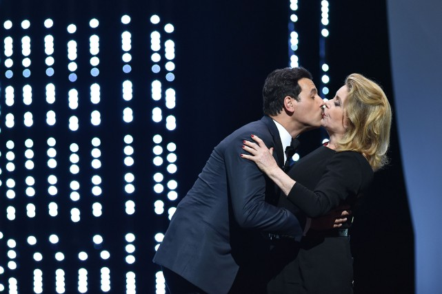 Catherine Deneuve a donné un beau et long... (PHOTO AFP)