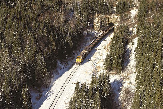 Quatorze wagons d'un train de Rio Tinto IOC... (Rio Tinto IOC)