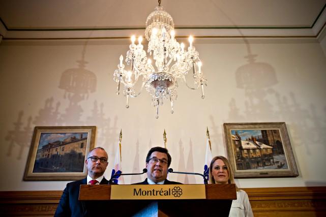 La Ville de Montréal a prouvé hier que... (Photo Patrick Sanfaçon, La Presse)