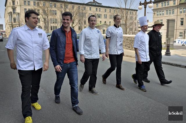 Quelques chefs cuisiniers qui prendront part à l'activité... (Le Soleil, Patrice Laroche)