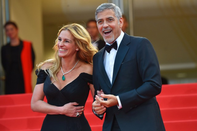 Money Monster met en vedette Julia Roberts et... (PHOTO AFP)