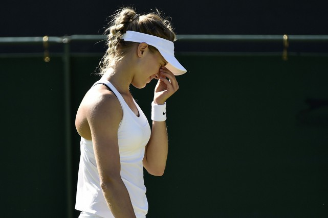 Eugenie Bouchard, classée 46e au monde, n'a réussi... (PHOTO ARCHIVES REUTERS)