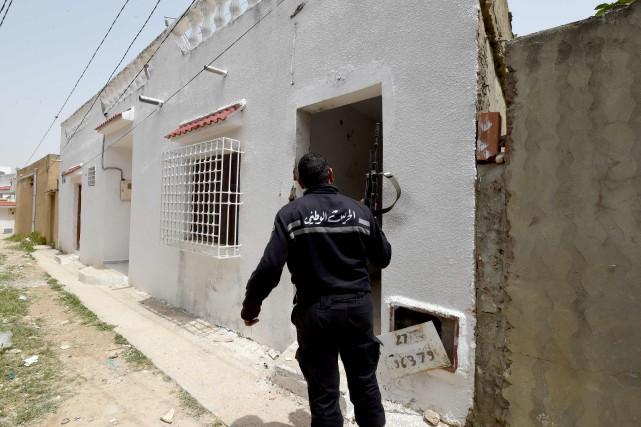 Deux terroristes ont été tués lors de la... (PHOTO FETHI BELAID, AFP)