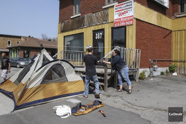 Le terrain et l'immeuble désaffecté du 387-389, rue... (Patrick Woodbury, LeDroit)