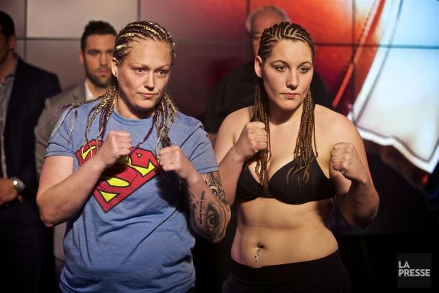 Vanessa Lepage-Joanisse (à droite)disputera un combat revanche contre... (André Pichette, La Presse)