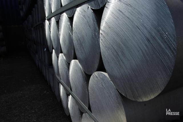 L'aluminium étiqueté comme un produit fabriqué avec de... (PHOTO IVANOH DEMERS, ARCHIVES LA PRESSE)