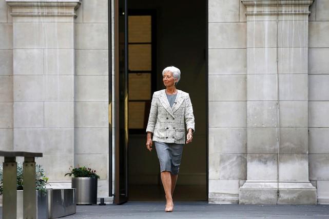 La directrice générale du FMI, Christine Lagarde.... (Photo Peter Nicholls, AP)