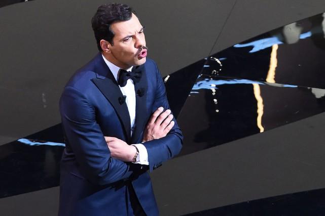Laurent Lafitte, maître de cérémonie lors de l'ouverture... (PHOTO AFP)