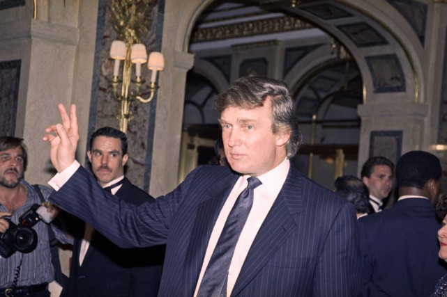 Donald Trump à New York, en avril 1991.... (PHOTO LUIZ RIBEIRO, ARCHIVES AP)