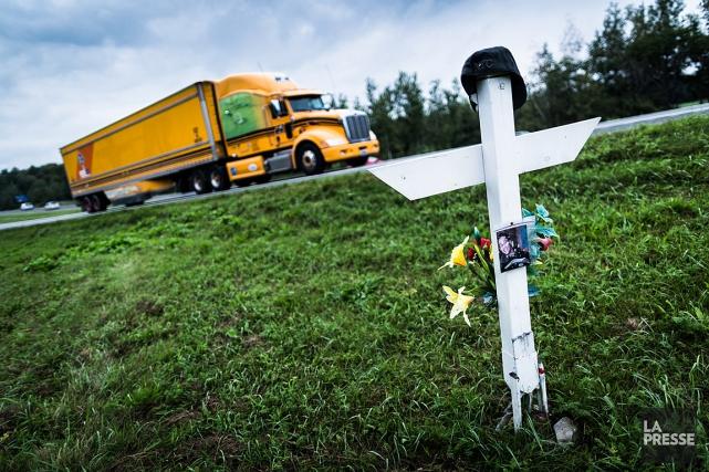 L'année 2014 avait présenté le meilleur bilan routier... (PHOTO EDOUARD PLANTE-FRECHETTE, ARCHIVES LA PRESSE)
