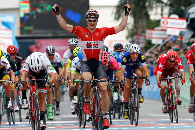 L'Allemand Andre Greipel a remportéune deuxième victoire d'étape... (Photo Luk Benies, AFP)