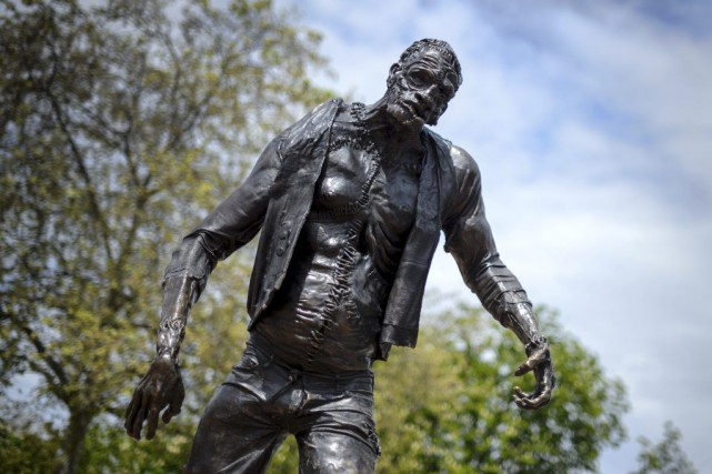 Une statue de Frankenstein.... (PHOTO AFP)