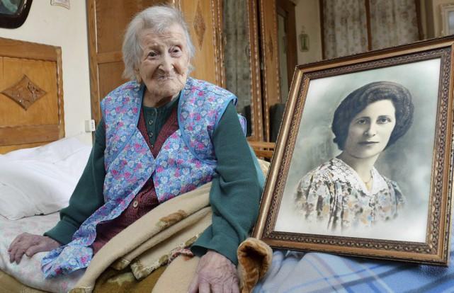 La doyenne de l'humanité, Emma Morano, posait en... (Archives AP)