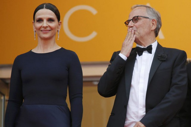 Juliette Binoche et Fabrice Luchini sur le tapis... (PHOTO REUTERS)