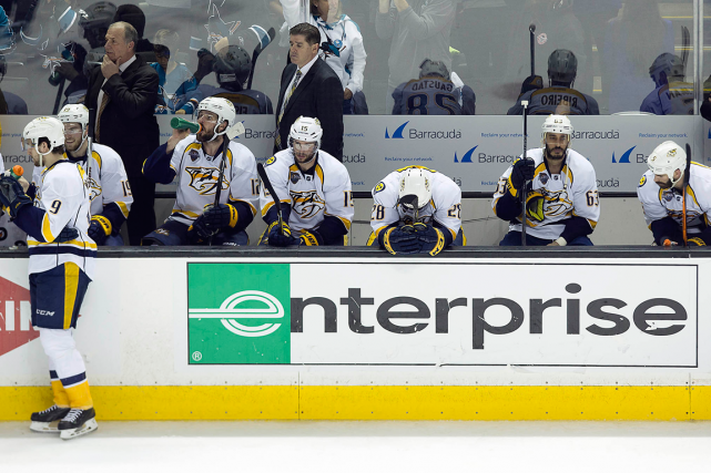Les Predators de Nashville ont encaissé un cuisant... (Photo Neville E. Guard, USA Today)