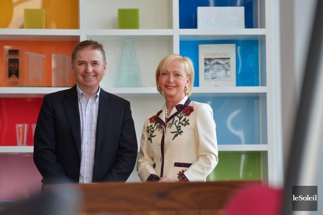 Jean-Yves et Christiane Germain, les coprésidents de Groupe... (Le Soleil, Yan Doublet)
