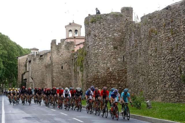 Pour cette septième journée du Tour d'Italie, le... (AFP)